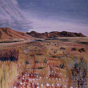 Painting from the long walk, South Australia, 1985