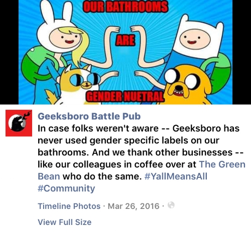 A Facebook post we made about our former location.