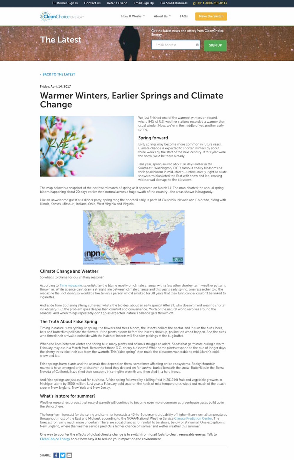 This post is one of a series on the links between climate and weather.