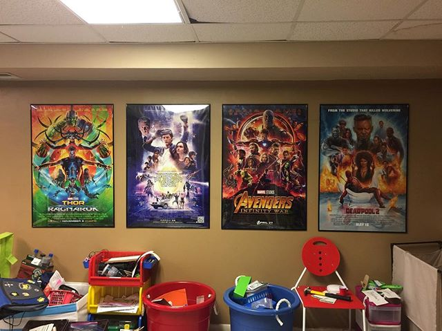 Looking at these make me so happy. Not the mess below, but the posters above. I recently got a job at a movie theater and was able to pick up the @readyplayerone, @avengers #infinitywar, and @deadpoolmovie there. I mentioned in a previous post when I only had two frames, I got the #thorragnarok at @planetcomiconofficial earlier this year. I plan to rotate the lineup every week or two or so, cause I have a lot of Poster and will probably be getting more as time goes on.