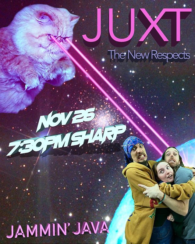 SURPRISE!  Juxt is opening for The New Respects this Monday 11/26!  Ticket link in bio 😸