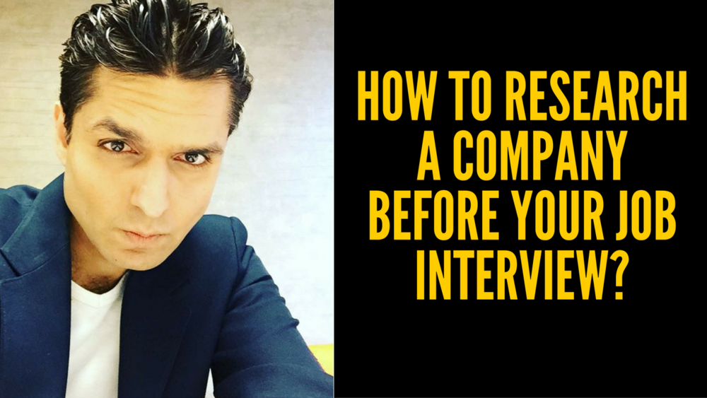 How to research a company before a job interview?