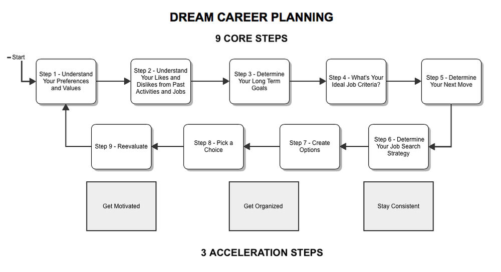 Figure 1 - The 9 Step Career Planning Framework