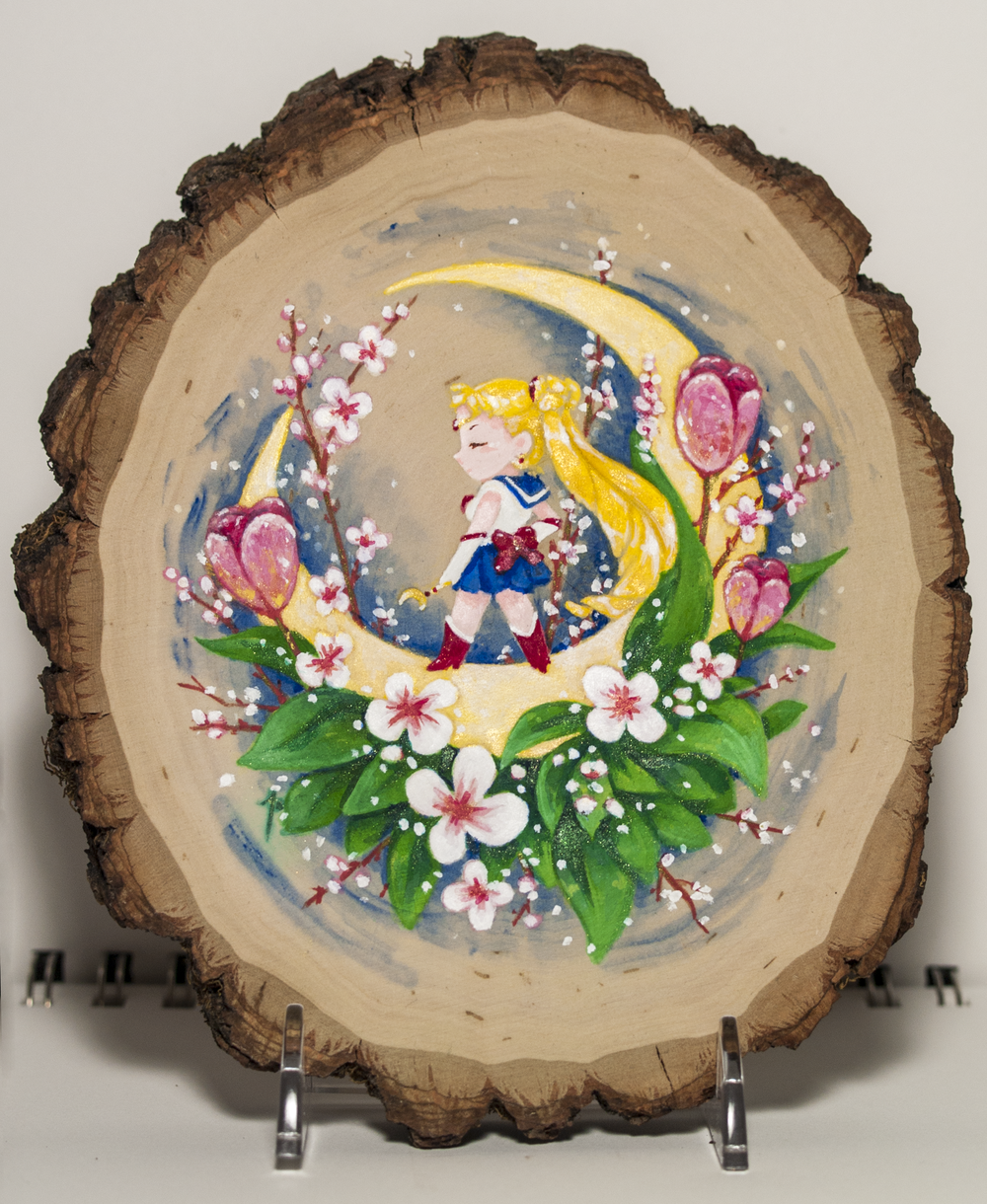 MOON PRISM POWER Gallery Show  This is my piece for the   MoonPrismPower   show, a Sailor Moon themed art show, hosted by  The Galallery  in San Francisco, running from December 9th 2016 to January 29th 2017.   Acrylic on Basswood.