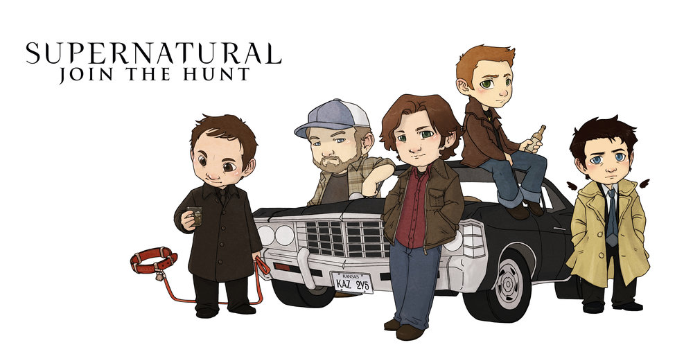 Illustration for  CreationStands  officially licensed merchandise for the Warner Brothers CW show  Supernatural .
