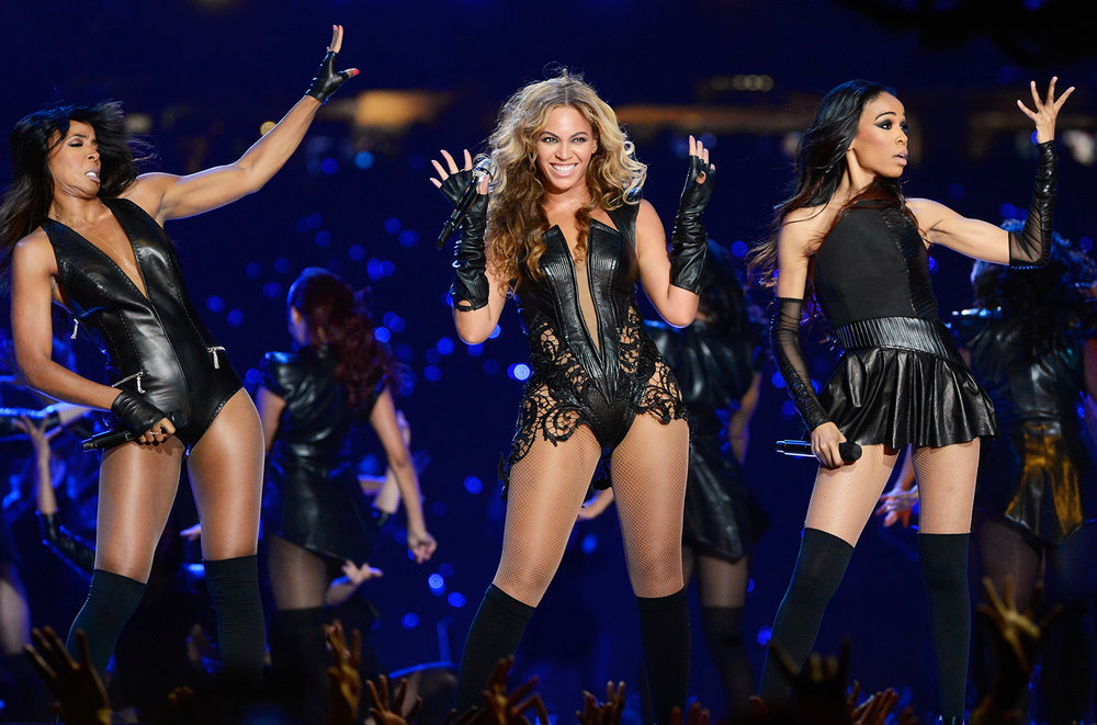 Kelly Rowland, Beyonce and Michelle Williams of Destiny's Child perform during the Pepsi Super Bowl XLVII Halftime Show at Mercedes-Benz Superdome on Feb. 3, 2013 in New Orleans.