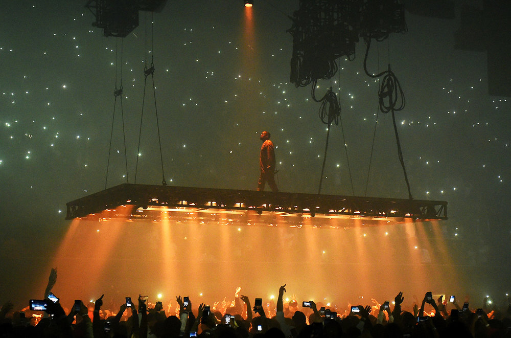 Kanye West performs at the Forum on Oct. 25, 2016 in Inglewood, Calif.