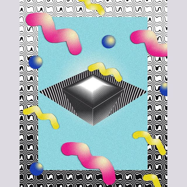 Diamond II #illustration, #digitalart, #poster
