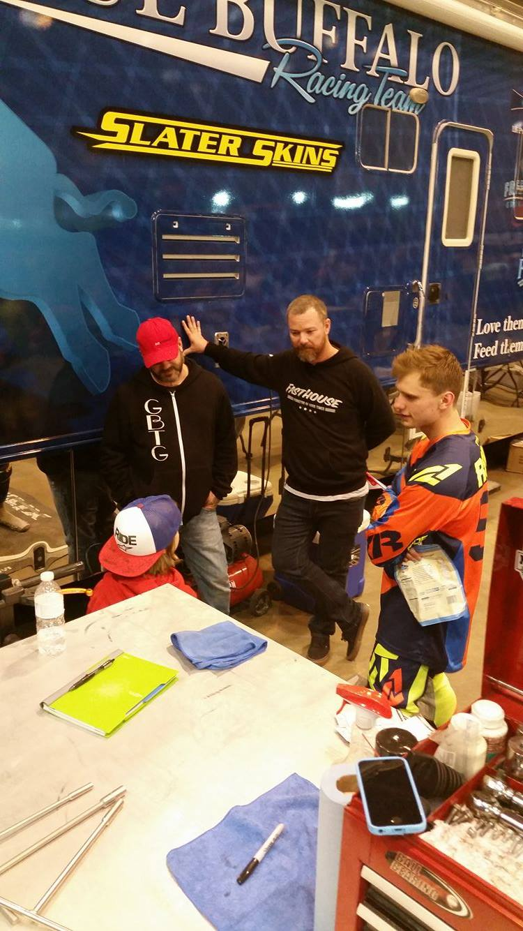 Everything was open to the Owen and his family.  They were VIP's all day long and got a chance to get behind all of the barriers and skip the lines! Owen was truly an honorary team member.