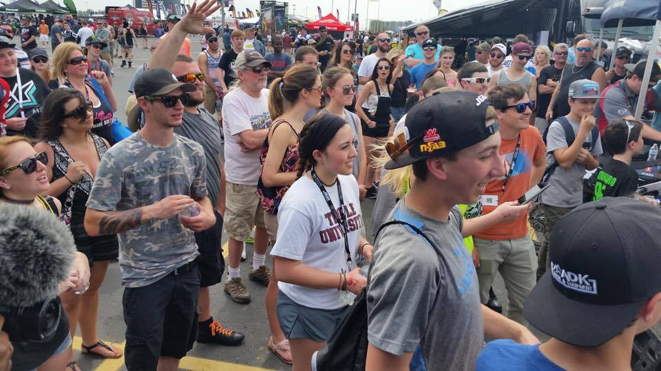 The pits around the Blue Buffalo's rig are always packed.  Broc makes sure that fan interaction and outreach are at the top of the list.  You can find these guys giving out samples, autographs, and other goodies to the fans.