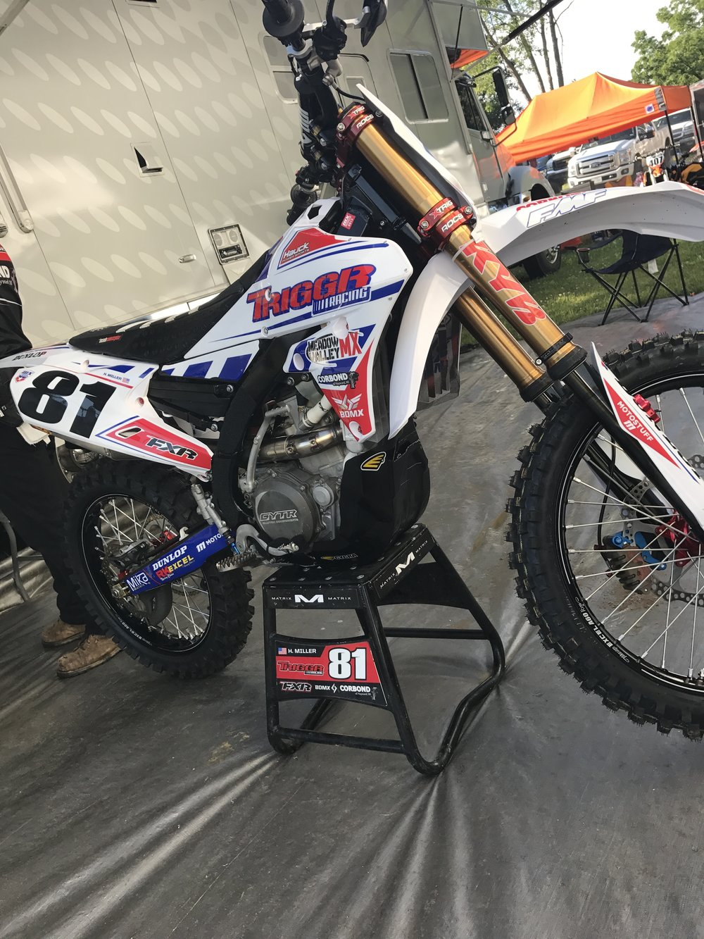 The  Triggr Racing  team always has a killer look to their bikes and they went all out for the Holiday weekend race at Red Bud!