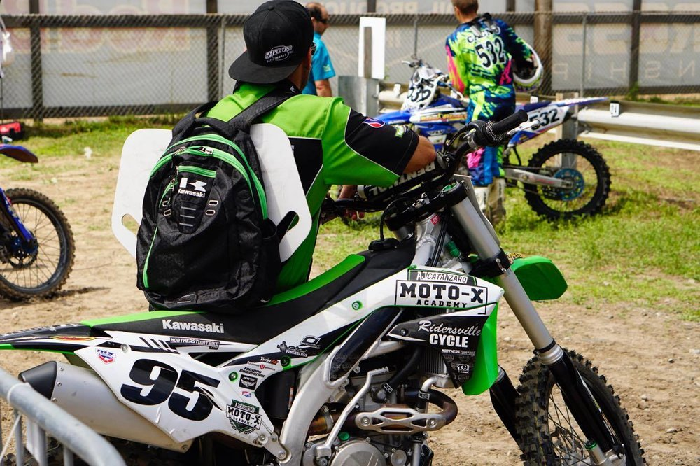 NEdirtbike.com himself Jeremiah Ellis was on hand to help out AJ and keep his KX450F running smooth all day.  Jeremiah always enjoys going to the races and hanging around his home National race.