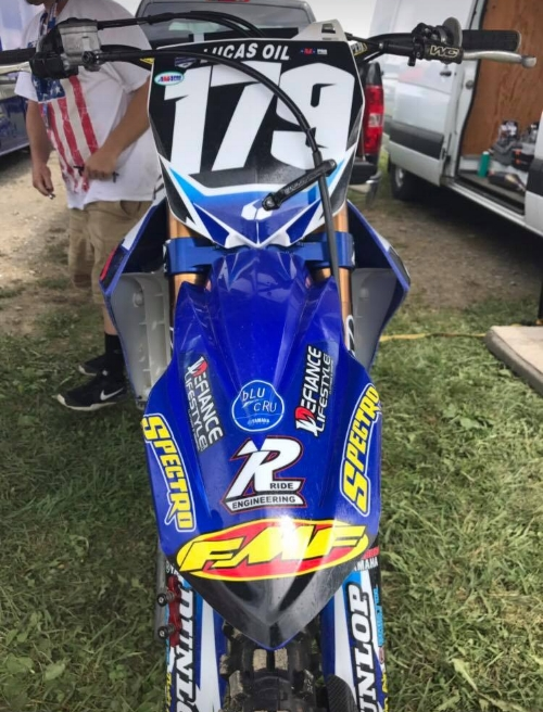 The team really knows how to make their bikes stand out. Fans always stop by for a picture of the bike as it is one that definitely catches the eye and is riddled with cool/trick parts.