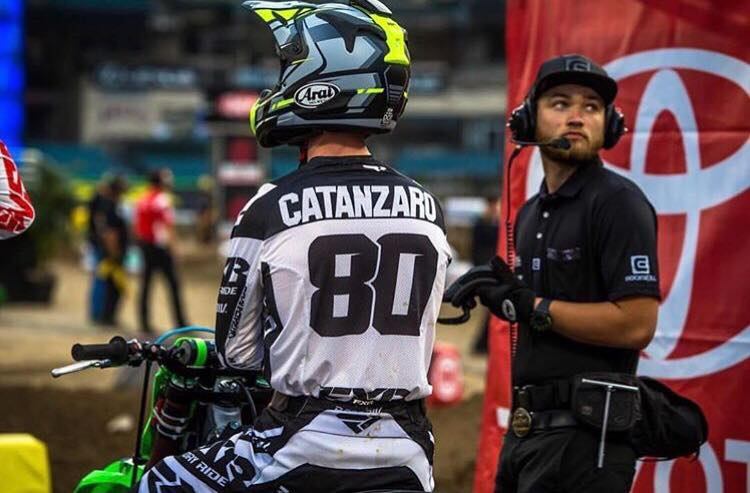 Derrick has been wrenching for AJ Catanzaro on the West coast rounds of the 2018 Monster Energy Supercross series.  This is Derrick's first year working with a higher profile rider and he has learned a lot in a short amount of time.    Image: @browndogwilson