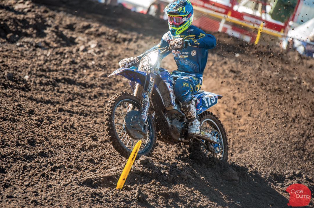 Ames is no stranger to the rigors of the pro class both in Supercross and Motocross..  Image:    @cycledump