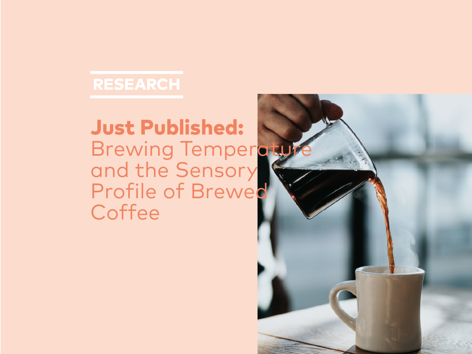 Just Published Brewing Temperature And The Sensory Profile Of Brewed Coffee Specialty Coffee Association