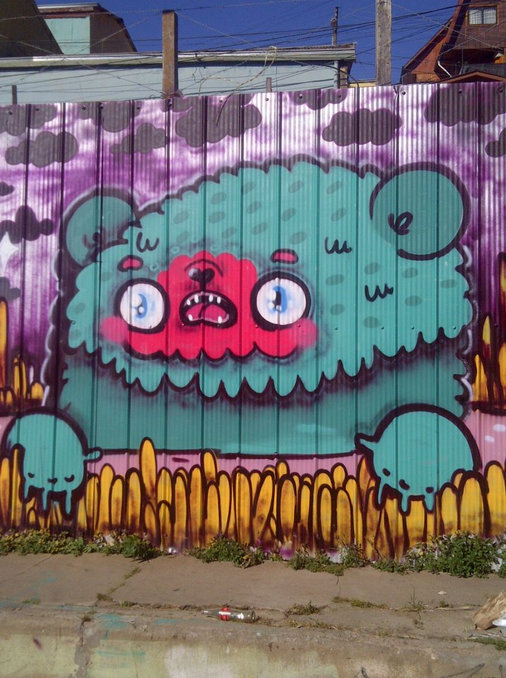 Street Art. Valparaíso, Chile.