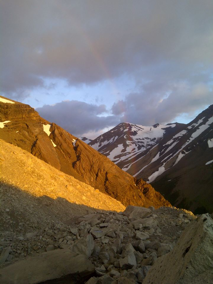 Rainbow in Torres Del Paine, Patagonia.