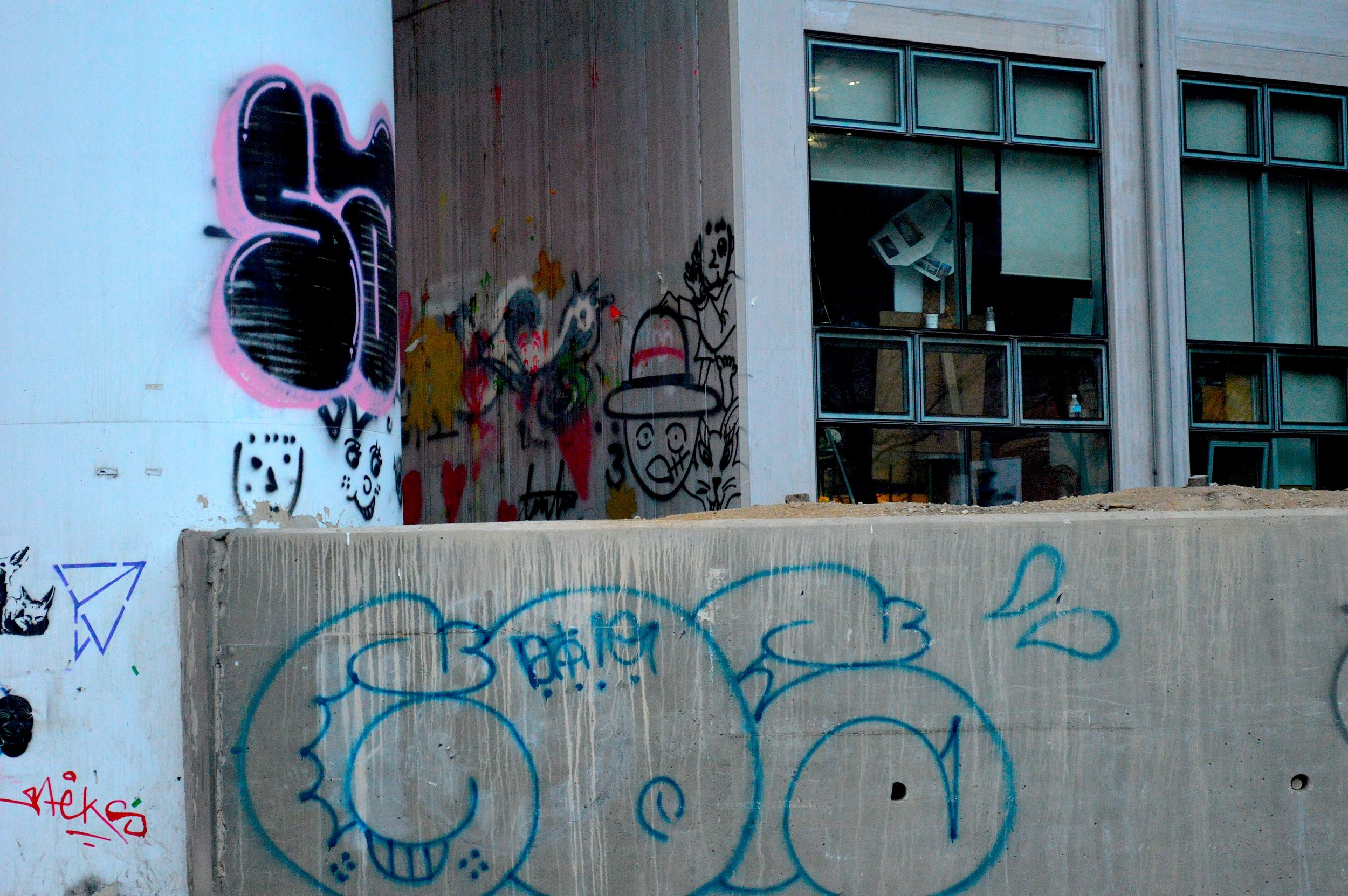 Graffiti in Anyang, South Korea.