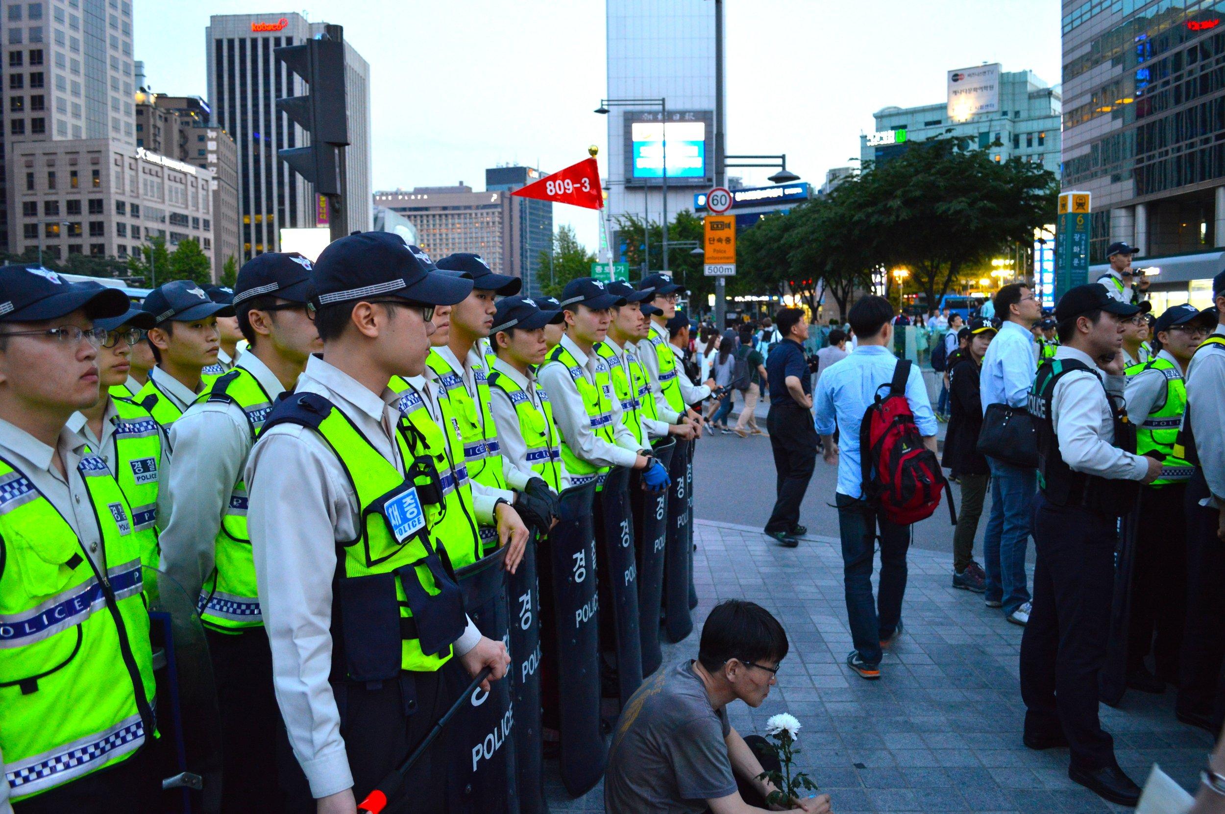Protest in Seoul.