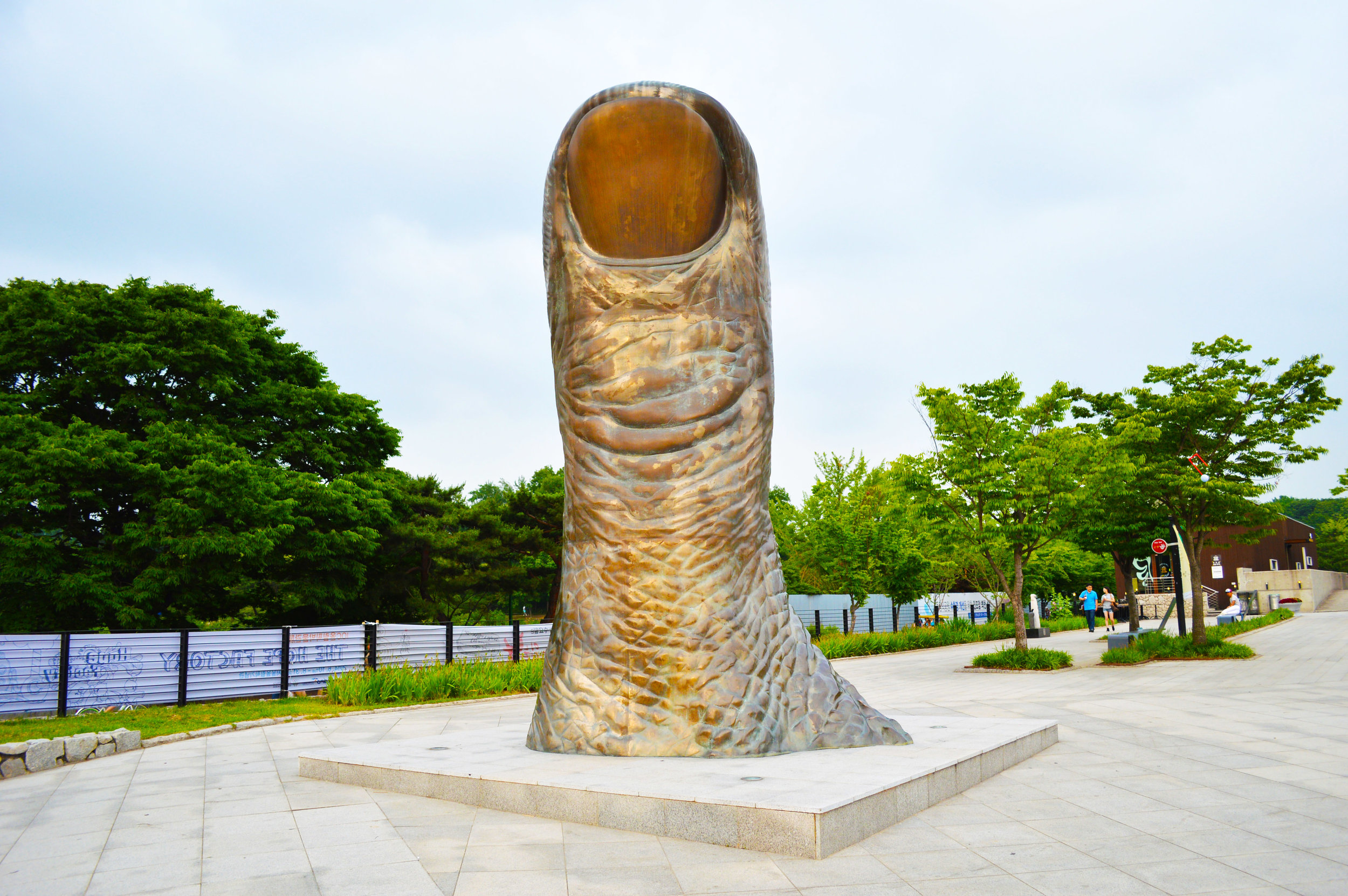 Thumb Statue in Olympic Park - Seoul, South Korea.