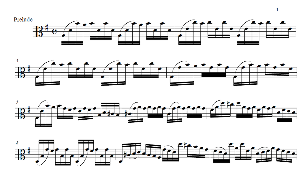 J.S. Bach - Suite no. 1 in G major, for violoncelloArranged for viola and edited by Andy Braddock