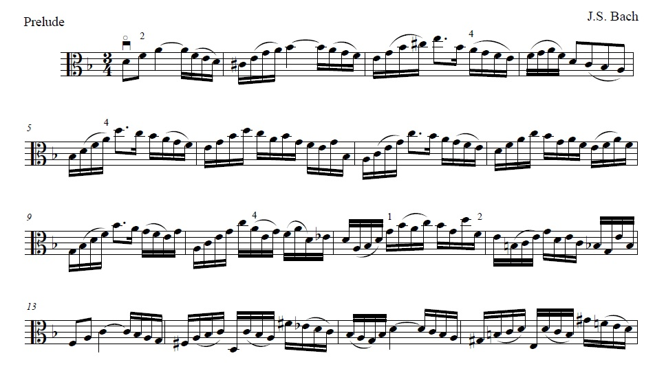 J.S. Bach - Suite no. 2 in D minor, for violoncelloArranged for viola and edited by Andy Braddock