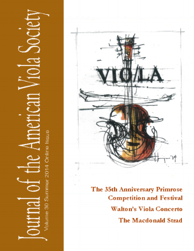New Music Reviews - Journal of the American Viola Society, Summer 2014 (click for pdf)Journal of the American Viola Society, Spring 2013 (click for pdf)Journal of the American Viola Society, Summer 2016 (click for pdf)Journal of the American Viola Society, Fall 2017