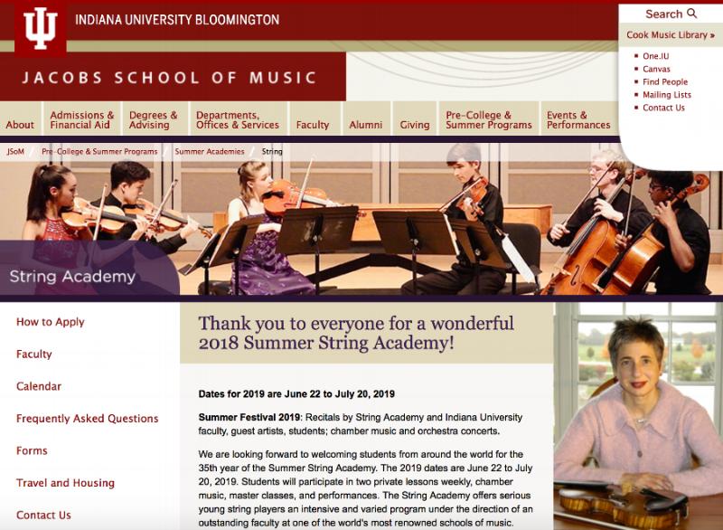 Indiana University Summer String Academy
