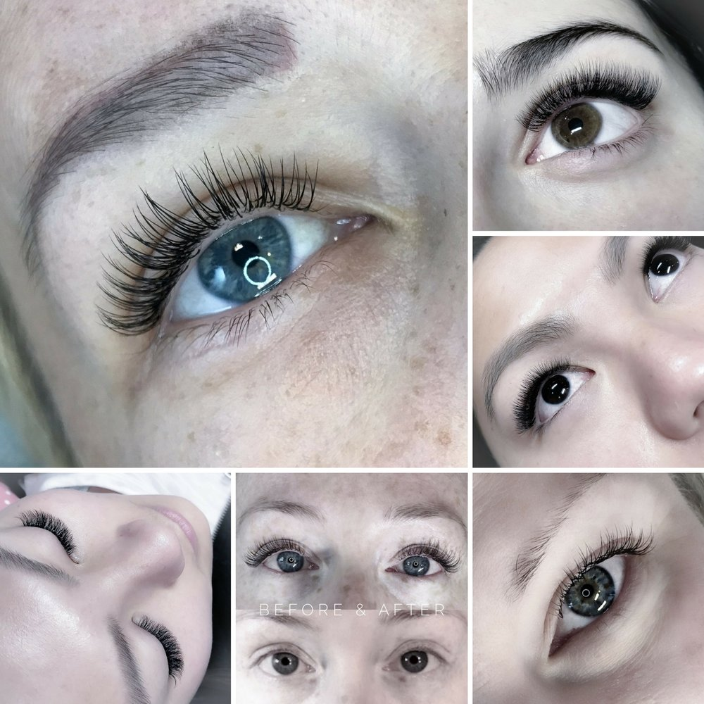 Eyelash extensions client gallery