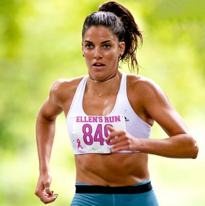 Paige Duca didn't veer off the course this time. She won among the women at Ellen's Run and placed fourth over all in 17 minutes and 18 seconds. Photo credit: Craig Macnaughton