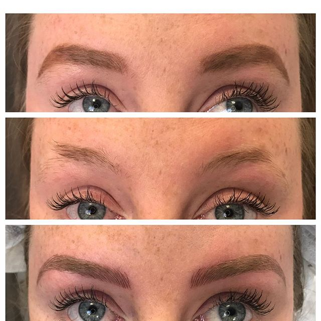 A favorite of mine from a while back!  Her makeup, no makeup, microblading!