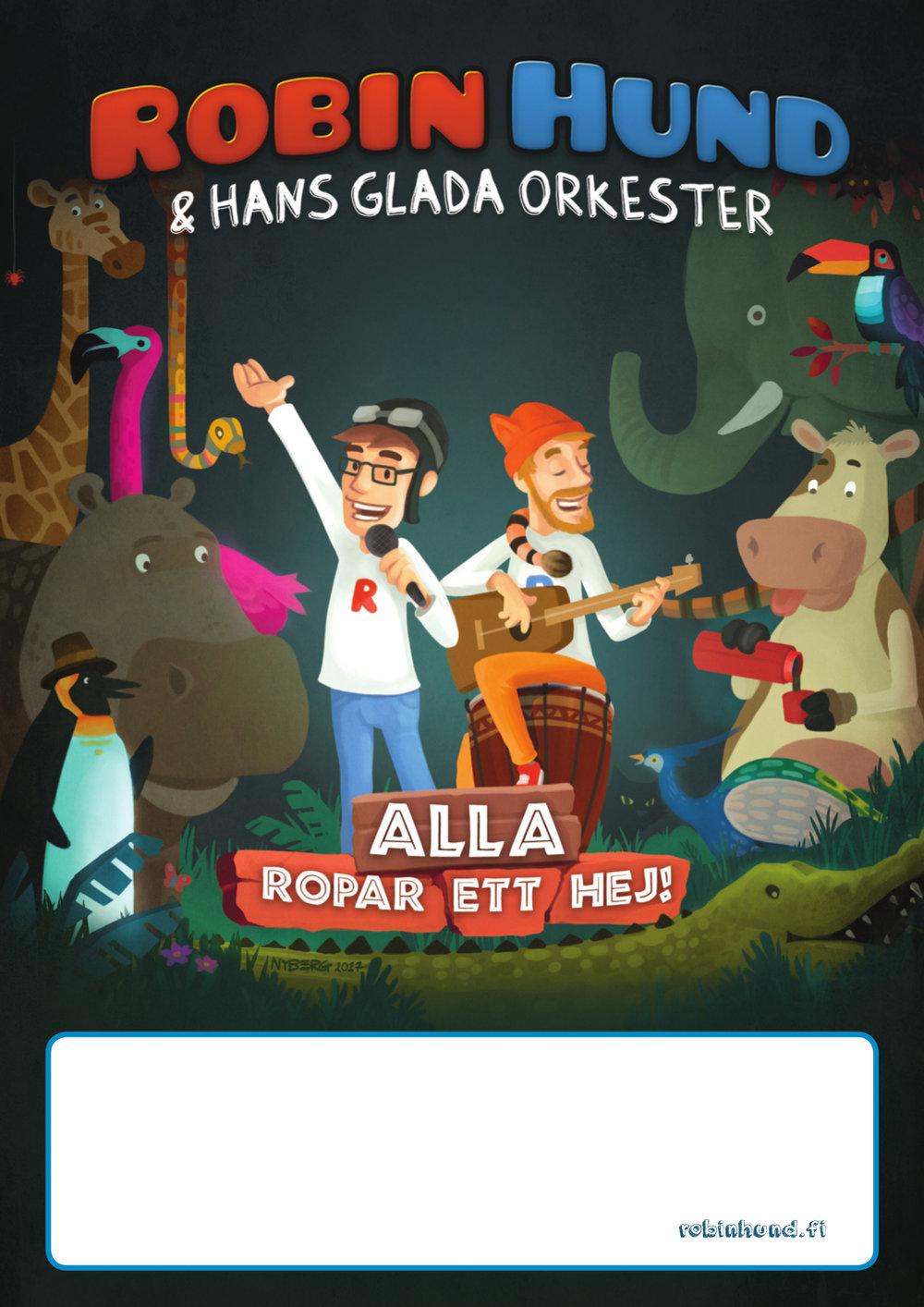 Robin Hund & Hans glada orkester affisch
