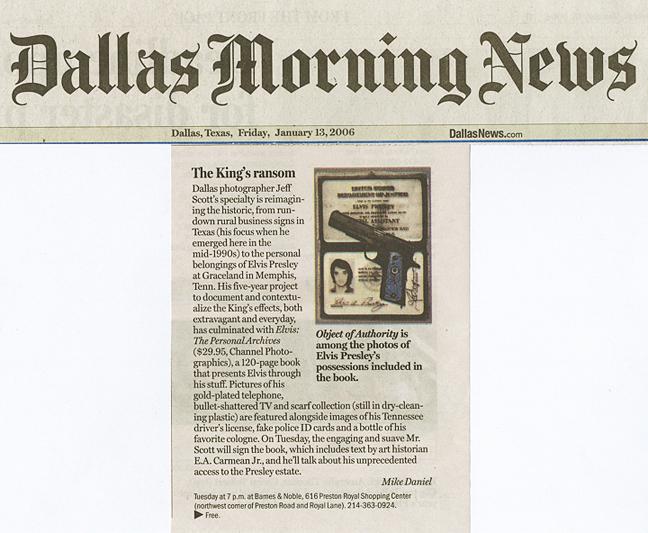 Jeff Scott Press: Dallas Morning News