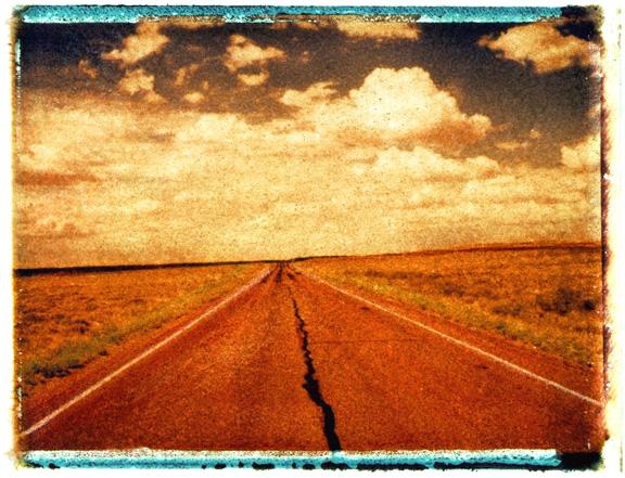 Desolate Highway, photographed in Arizona