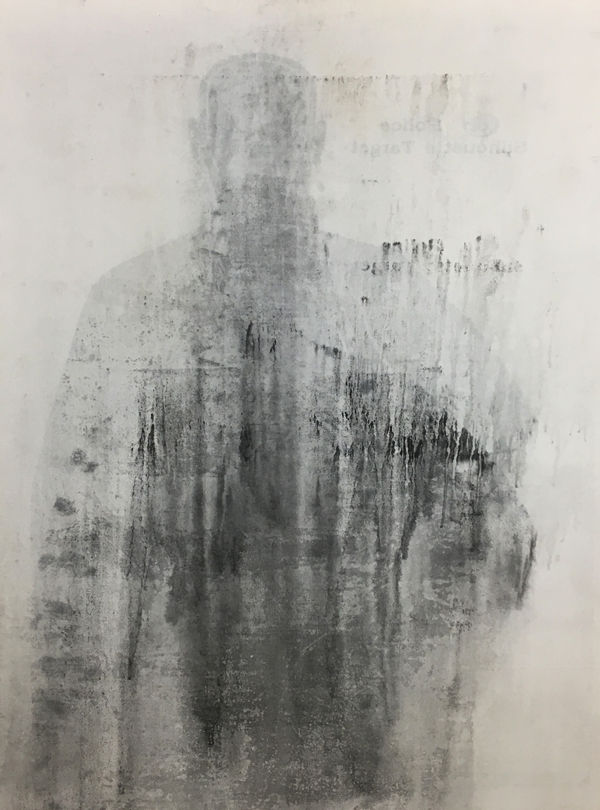 Untitled, 2017 Emulsion, mixed media on canvas