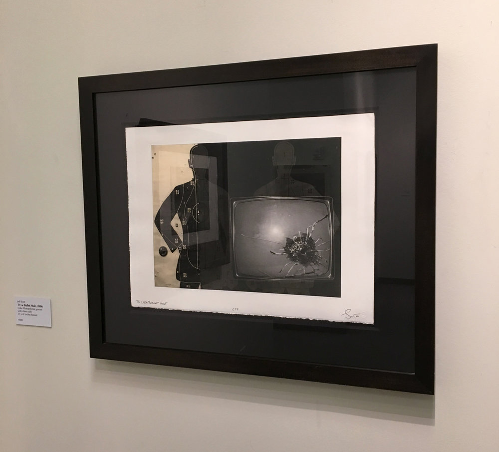 TV with Bullet Hole, Photogravure, 22 x 30 inches