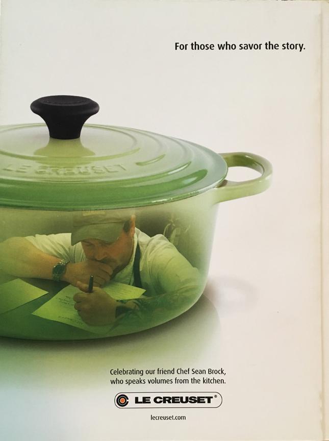 Le Creuset Advertisement featuring Sean Brock