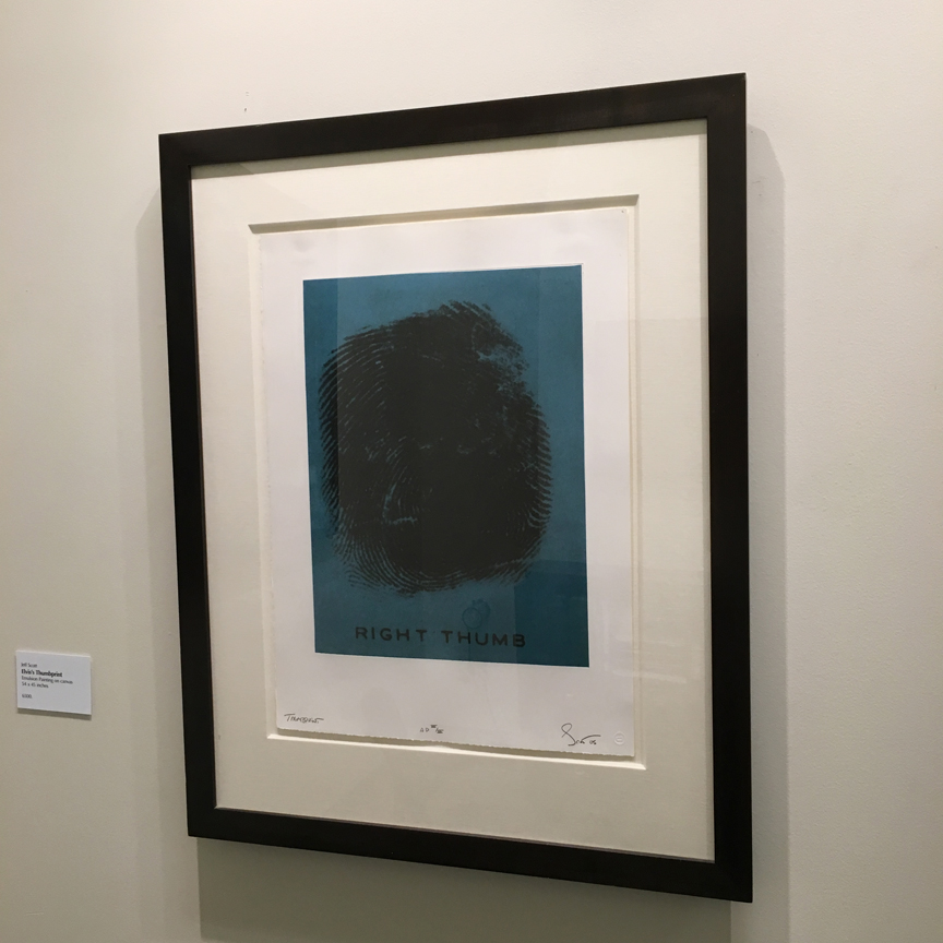 Elvis's Thumbprint, 2006 photo-polymer gravure with chine colle