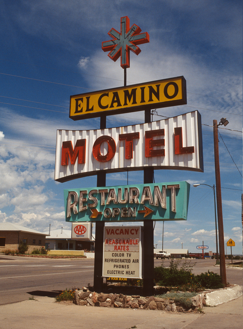 El Camino Motel, photographed in New Mexico