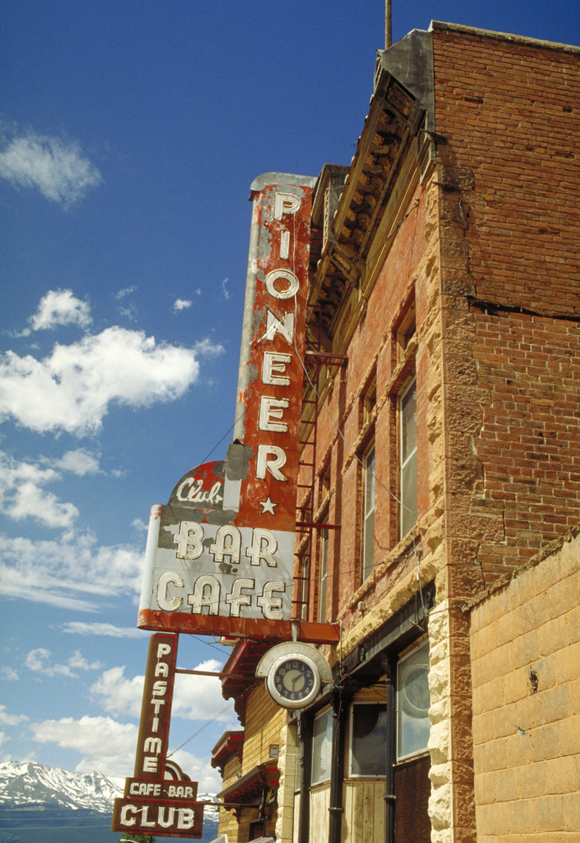Pioneer Bar Cafe, photographed in Colorado