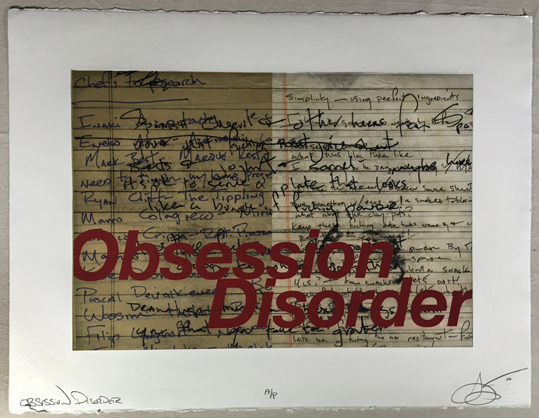 Obsession Disorder, 2009 photo-polymer gravure with chine colle