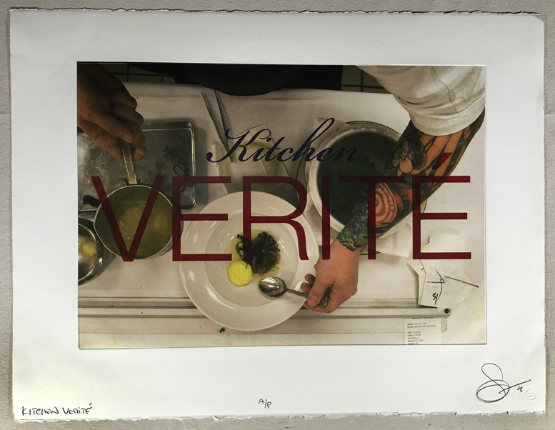 Kitchen Verite, 2009 photo-polymer gravure with chine colle
