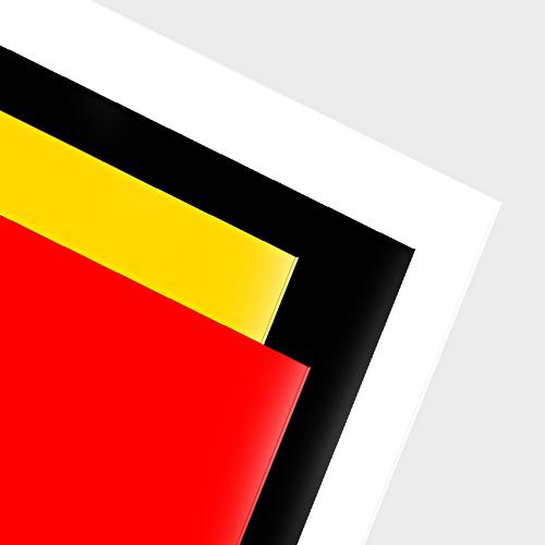 PS HIPS    Slagtåliga homogena skivor för displaymaterial, butiksinredning eller grafiskt material...