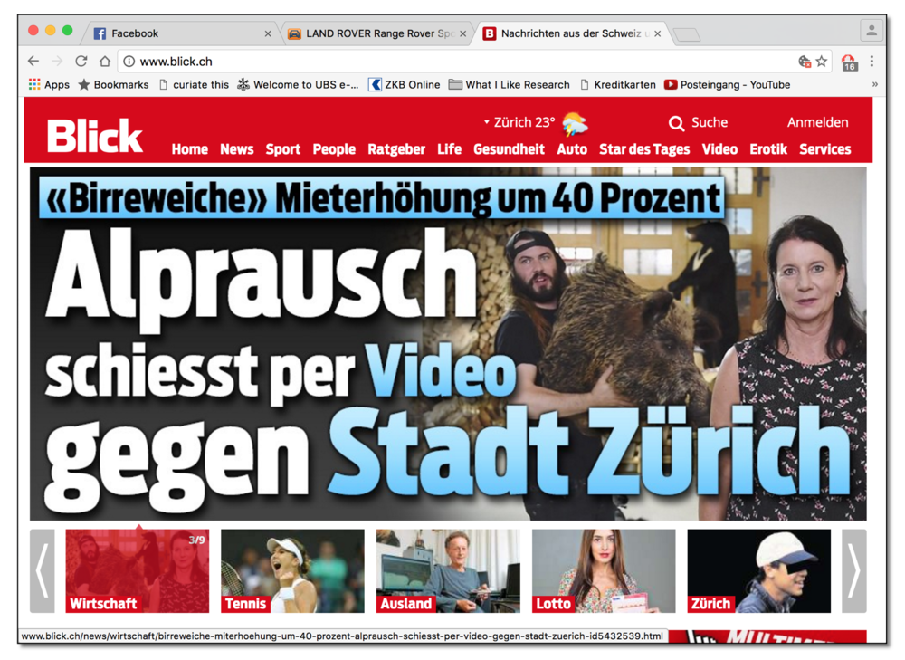 Blick-Titelgeschichte: 29. August 2016