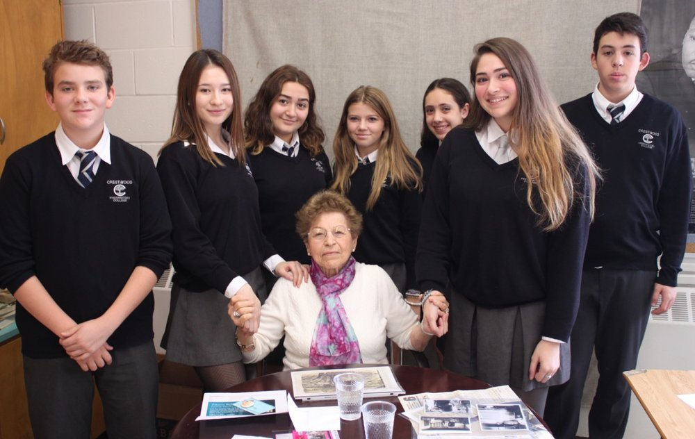 Holocaust Survivor Shary Fine, shared her story with a group of History students.
