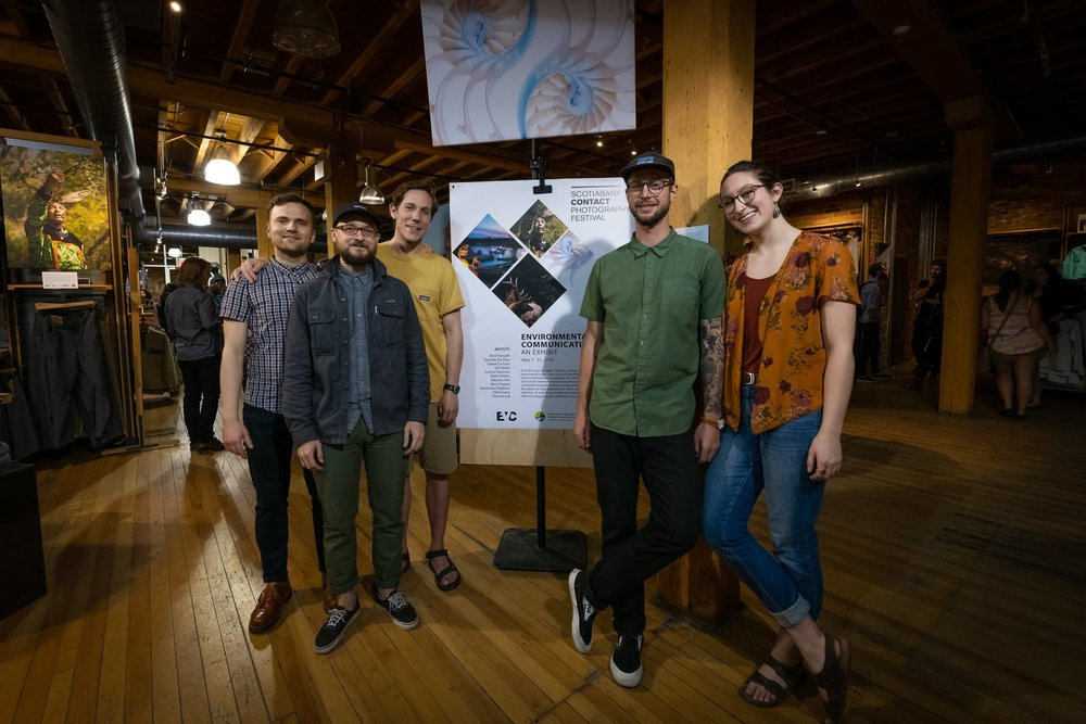 EVC and Patagonia staff, students, and community members celebrated the exhibit on May 17th.   PHOTO: Dave Coulson