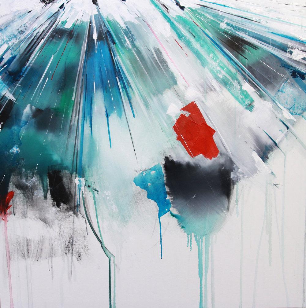 'Papilio Machaon'100 x 100 cm acrylic on canvas
