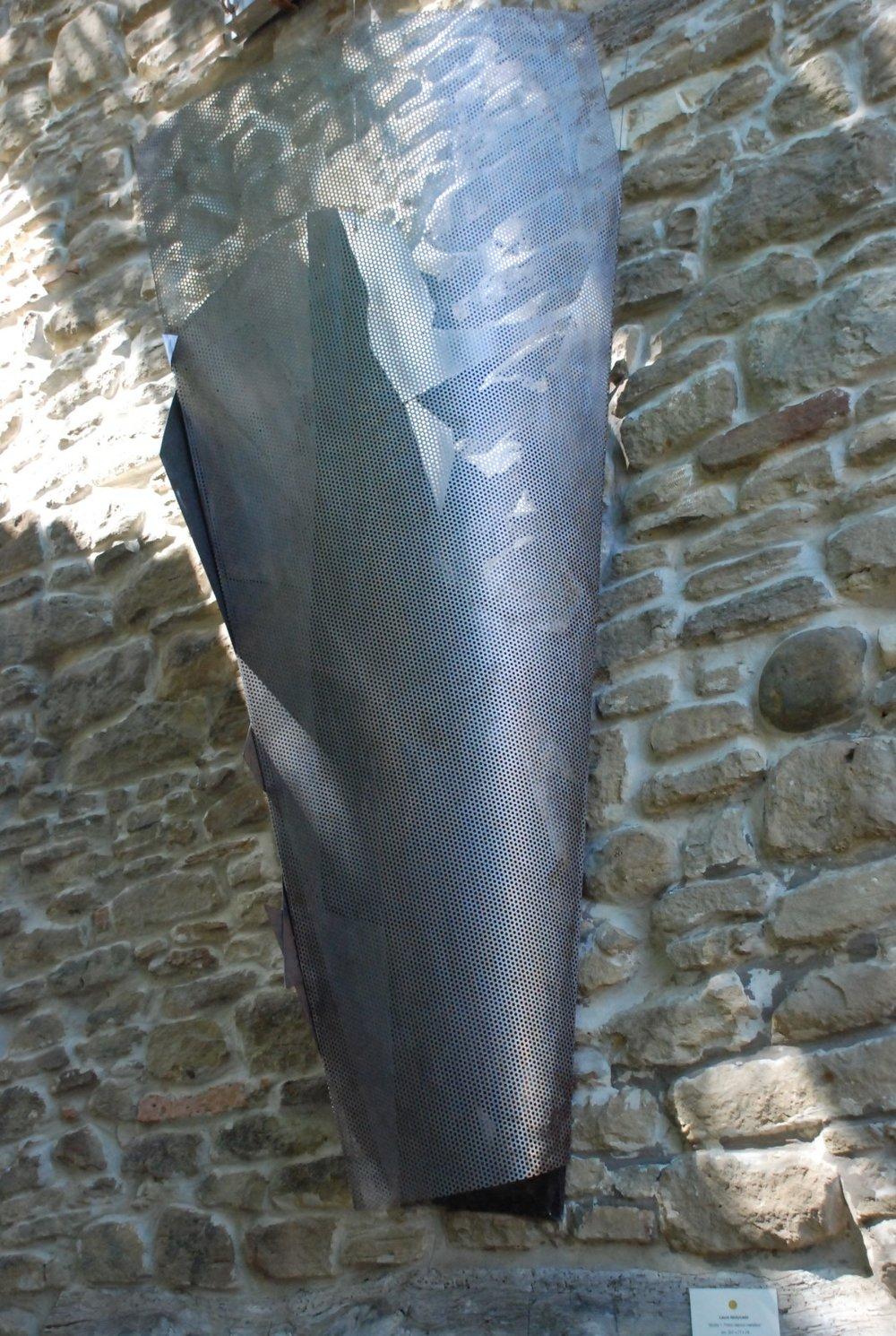 Kayak, Metal sculpture, Arnaldo Pomodoro, art in residence, Pietrarubbia, Italy