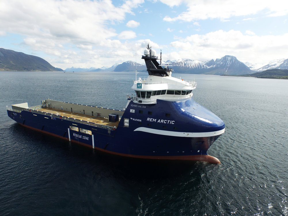 Rem Arctic on sea trials, May 2015  Photo: www.uavpic.com
